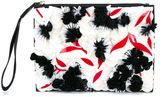 Marni mini sequin clutch - women - Leather/PVC - One Size