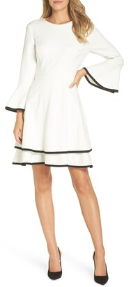 Brinker & Eliza Bell Sleeve Fit & Flare Dress