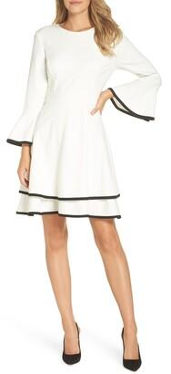Eliza J Bell Sleeve Fit & Flare Dress