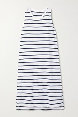 Skin Elanie Striped Stretch-jersey Dress - Blue