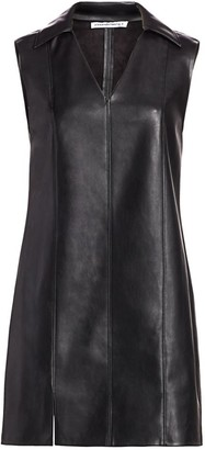 Alexander Wang Faux Leather Sleeveless Dress