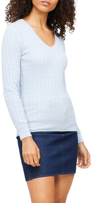 Tommy Hilfiger Classic Cable V-Neck Sweater