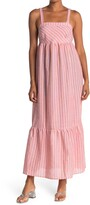 Thumbnail for your product : Love Stitch Striped Sleeveless Flounce Hem Maxi Dress