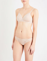 Simone Perele Caresse 3D Spacer and stretch-lace soft-cup triangle bra