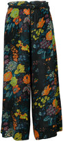 Raquel Allegra cropped floral palazzo pants - women - Silk - 0