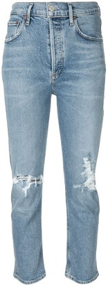 AGOLDE Distressed Cropped Jeans