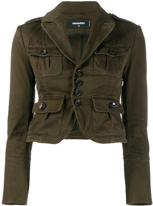 DSQUARED2 Military Style Blazer Jacket