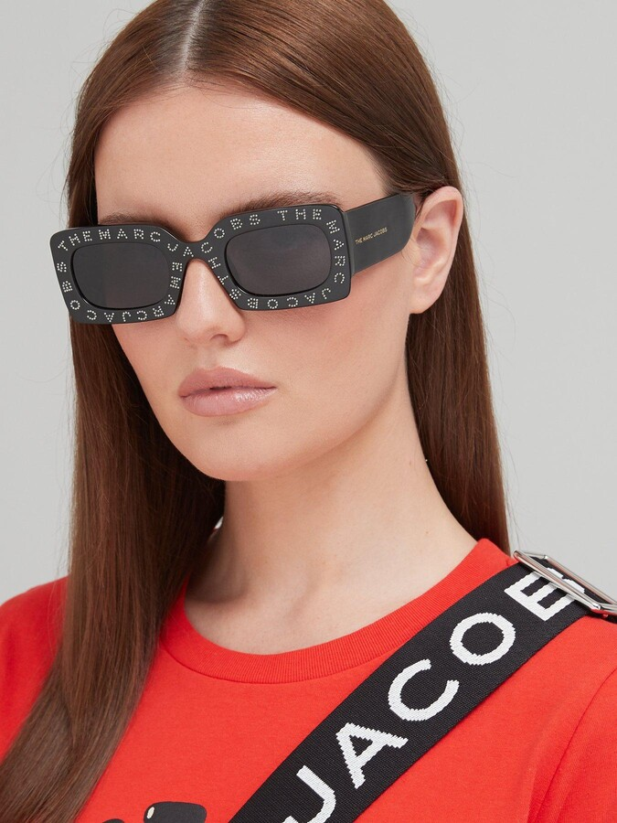 Thumbnail for your product : Marc Jacobs Square Sunglasses - Black