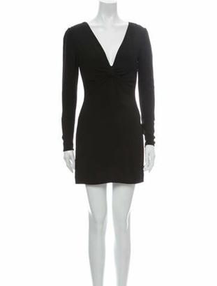 Valentino V-Neck Mini Dress Black