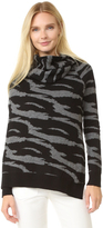 Edun Jacquard Draped Wool Wrap Sweater