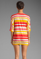 Marc by Marc Jacobs Hayley Stripe V-neck Pull Over Cover Up