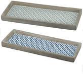 A&B Home Set Of 2 Winston Narrow Decorative Trays
