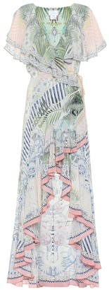 Camilla Embellished floral silk maxi dress