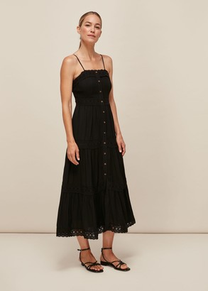Strappy Lace Paneled Dress