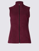 M&S Collection Fleece Contrasting Zip Gilet