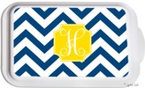 The Well Appointed House Personalized Casserole Dish with Navy Chevron Pattern