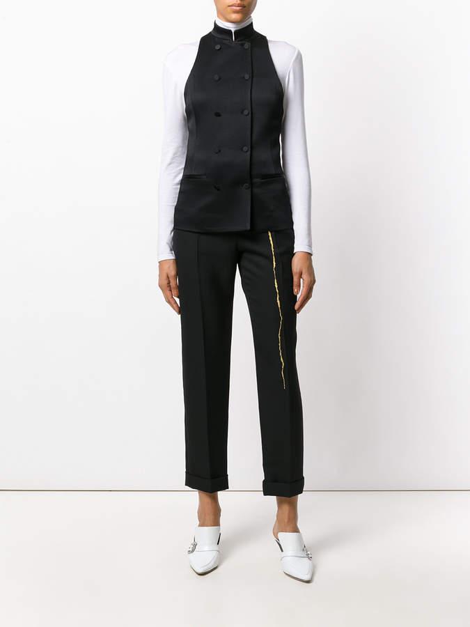 Haider Ackermann Kuiper shiny waistcoat