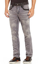 Rock Revival Foust Straight-Fitting Denim Jeans