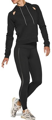 Asics Piped Dream Hoodie (Performance Black) Women's Clothing