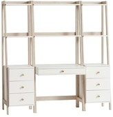 Pottery Barn Teen Highland Wall Desk + Narrow Bookcase with Drawers Set