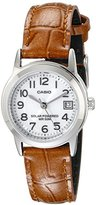 Casio Women's LTP-S100L-7BVCF Easy-To-Read Solar Watch with Brown Band