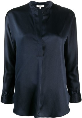 Vince Long-Sleeved Open Front Blouse