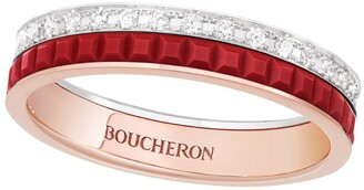 Boucheron Rose Gold and Diamond Quatre Red Edition Wedding Band
