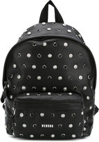 Versus lion head studded backpack - women - Cotton/Calf Leather - One Size