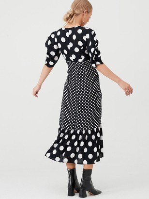 Very Spot Mixed Print Dress - Print
