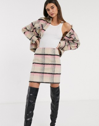 InWear Elo checked mini skirt