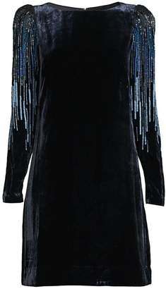 Elie Tahari Velvet Sequin Sheath Dress