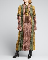 Thumbnail for your product : Alexis Annibelis Ruffled Printed Maxi Dress