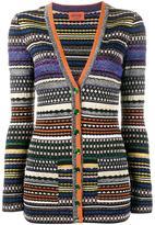 Missoni lurex stripe cardigan - women - Nylon/Polyester/Spandex/Elastane/Rayon - 40