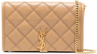 Saint Laurent small quilted Monogram wallet-on-chain
