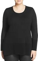Marina Rinaldi Alians Ribbed-Hem Sweater