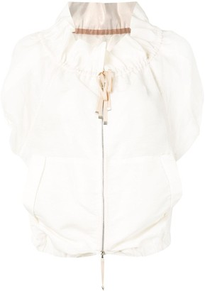 Shanshan Ruan Short Sleeved Cocoon Jacket