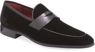 Magnanni Men's William Velvet Penny Loafers