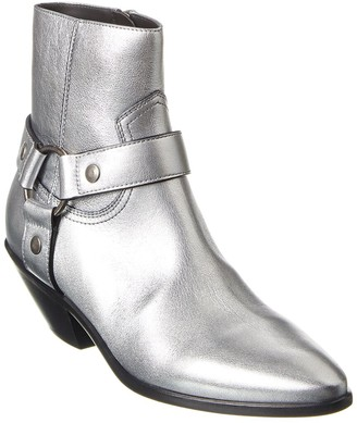 Saint Laurent West 45 Metallic Leather Bootie