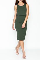 Solemio Sleeveless Overlay Dress