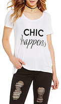 GB Chic Happens Short-Sleeve Graphic Tee