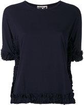 Hache ruched trim T-shirt - women - Cotton - 44