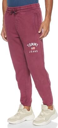 Tommy Jeans Men's TJM Washed Logo Sweatpant Trouser