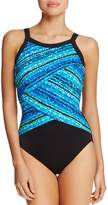 Miraclesuit Night Light Printed One Piece Swimsuit