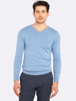 Oxford Basic Cotton V-Neck Pullover