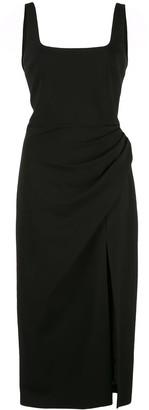 Cushnie square neck midi dress