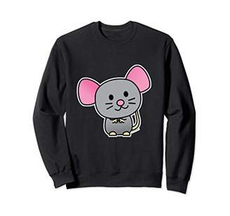 Happy rat rodent mouse pet gray tail Sweatshirt
