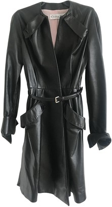 Christian Dior Black Leather Coat for Women