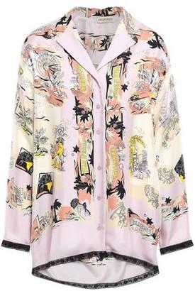 Emilio Pucci Lace-trimmed Printed Silk-twill Shirt