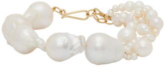 COMPLETEDWORKS Gold Freshwater Pearls Bracelet