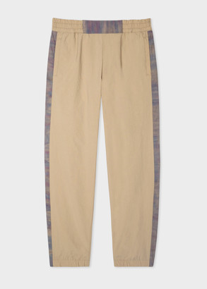 Paul Smith Men's Sand Red Ear Trousers With Injection-Dye Trims